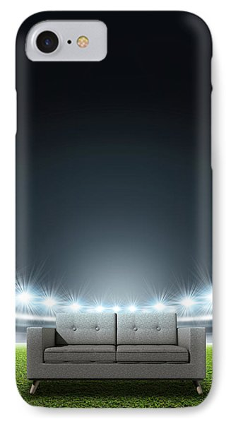 Generic Floodlit Stadium IPhone Case by Allan Swart