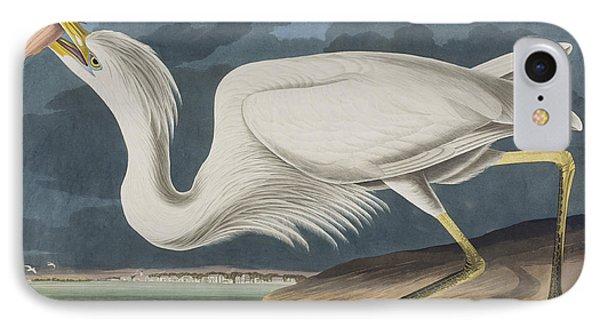 Great White Heron IPhone Case by John James Audubon
