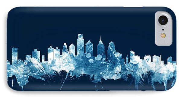 Philadelphia Pennsylvania Skyline IPhone Case by Michael Tompsett