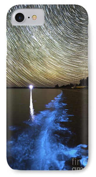 Star Trails And Bioluminescence Phone Case by Philip Hart