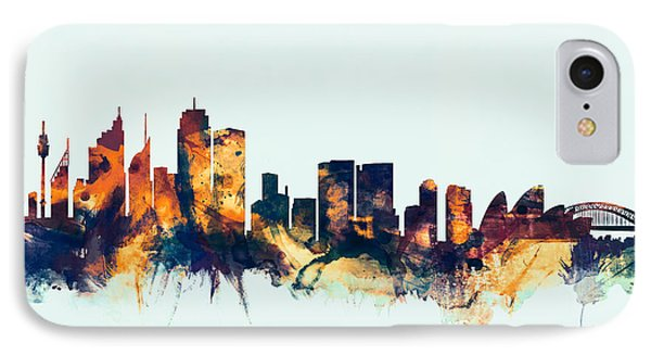 Sydney Australia Skyline IPhone Case by Michael Tompsett