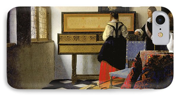 The Music Lesson IPhone Case by Johannes Vermeer
