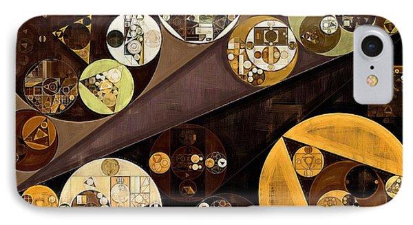 Abstract Painting - Zinnwaldite Brown IPhone Case by Vitaliy Gladkiy