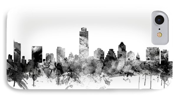 Austin Texas Skyline IPhone 7 Case by Michael Tompsett