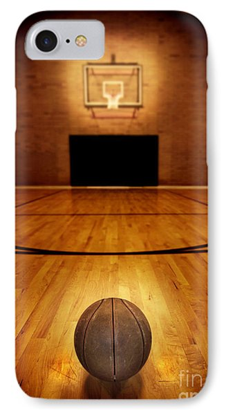 Basketball And Basketball Court IPhone 7 Case by Lane Erickson