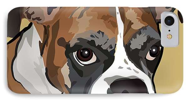 Boxer Dog Portrait IPhone Case by Robyn Saunders
