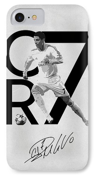 Cristiano Ronaldo IPhone Case by Semih Yurdabak