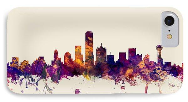 Dallas Texas Skyline IPhone 7 Case by Michael Tompsett