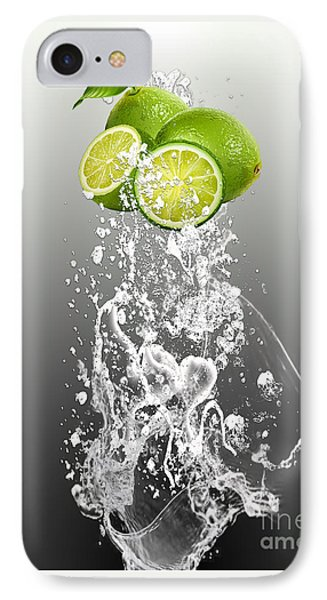 Lime Splash IPhone Case by Marvin Blaine