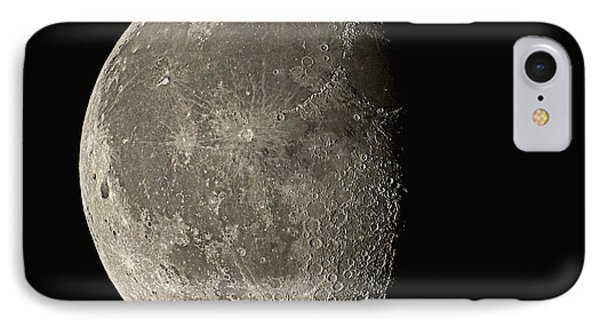 Waning Gibbous Moon IPhone Case by Eckhard Slawik