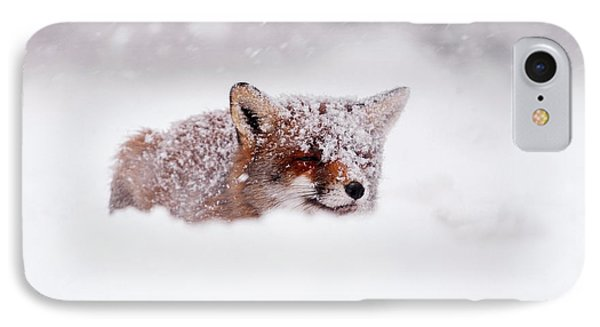 50 Shades Of White And A Touch Of Red IPhone Case by Roeselien Raimond