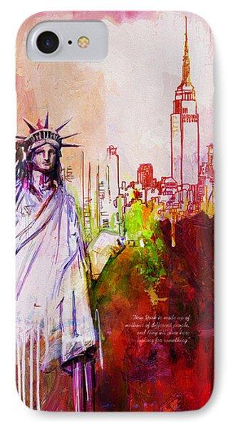 56 Ny Skyline IPhone Case by Maryam Mughal