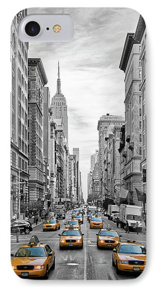 5th Avenue Yellow Cabs - Nyc IPhone 7 Case by Melanie Viola