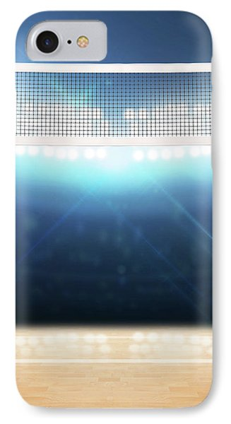Indoor Floodlit Volleyball Court IPhone Case by Allan Swart