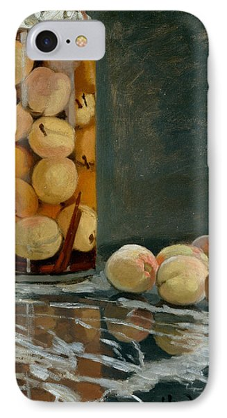 Jar Of Peaches IPhone 7 Case by Claude Monet