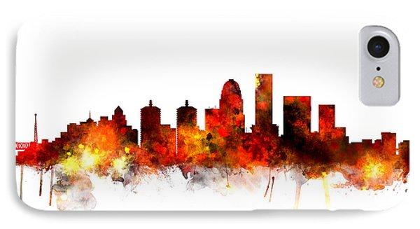 Louisville Kentucky City Skyline IPhone Case by Michael Tompsett
