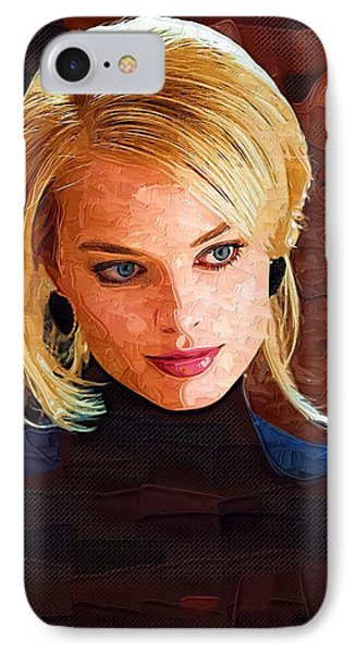 Margot Robbie Painting IPhone Case by Best Actors