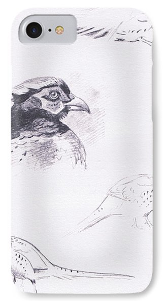 Pheasants IPhone 7 Case by Archibald Thorburn