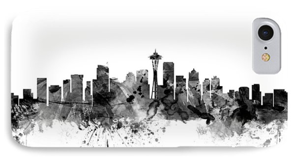 Seattle Washington Skyline IPhone Case by Michael Tompsett