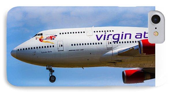 Virgin Atlantic Boeing 747 IPhone Case by David Pyatt