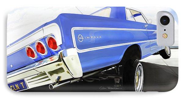 64 Impala Lowrider IPhone Case by Colin Tresadern