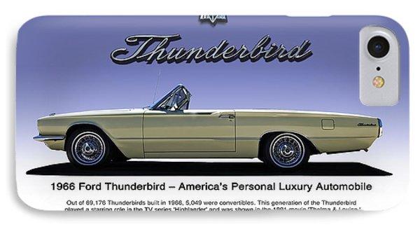 '66 Thunderbird Convertible IPhone Case by Douglas Pittman