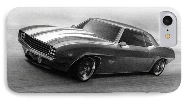 '69 Camaro IPhone Case by Tim Dangaran