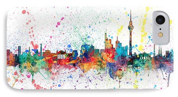 Berlin Germany Skyline IPhone Case by Michael Tompsett