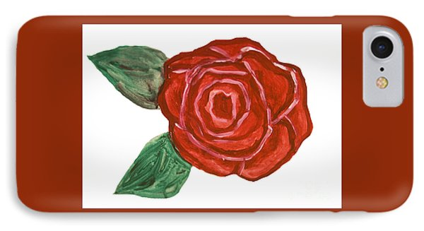 Red Rose, Painting IPhone Case by Irina  Afonskaya