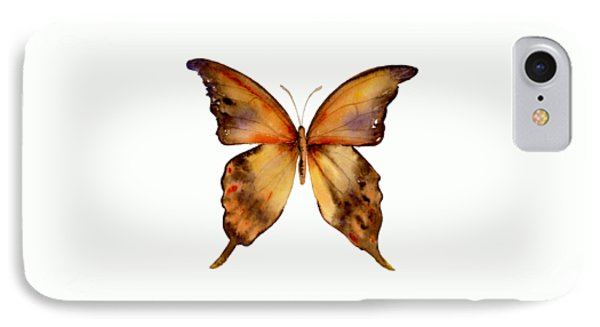7 Yellow Gorgon Butterfly IPhone Case by Amy Kirkpatrick
