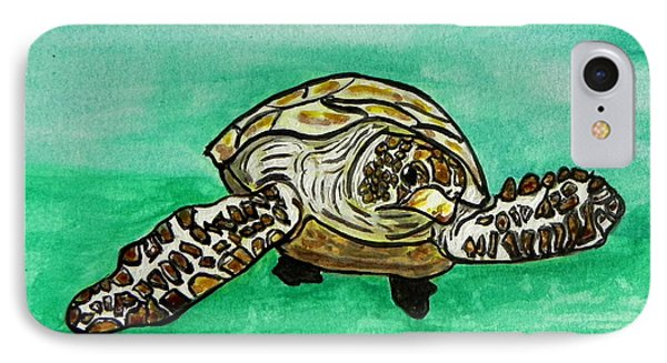 Sea Turtle IPhone Case by W Gilroy