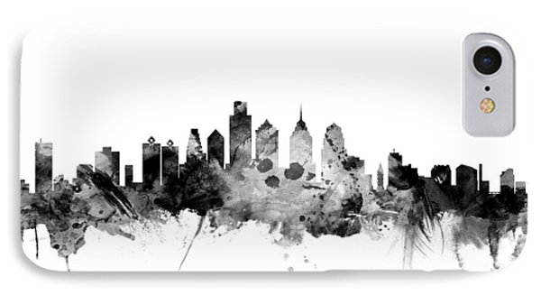 Philadelphia Pennsylvania Skyline IPhone Case by Michael Tompsett