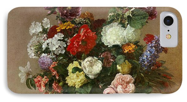 A Bouquet Of Mixed Flowers Phone Case by Ignace Henri Jean Fantin-Latour