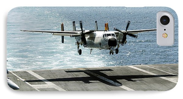 A C-2a Greyhound Prepares To Land Phone Case by Stocktrek Images