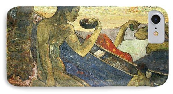 A Canoe Phone Case by Paul Gauguin