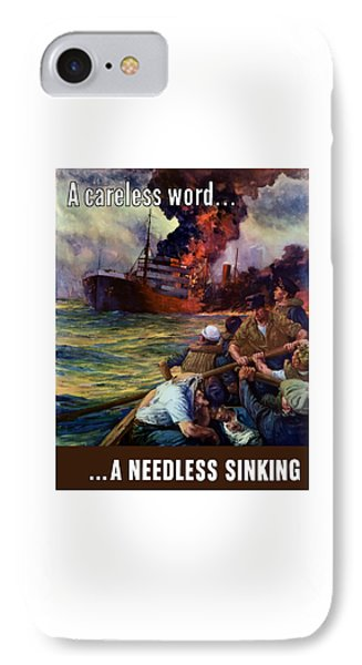 A Careless Word A Needless Sinking IPhone Case by War Is Hell Store