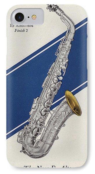 A Charles Gerard Conn Eb Alto Saxophone IPhone 7 Case by American School