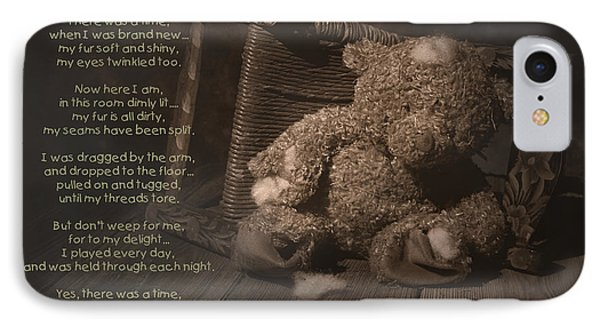 A Child Once Loved Me Poem IPhone Case by Tom Mc Nemar