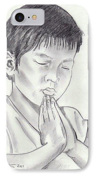 A Child's Prayer Phone Case by John Keaton