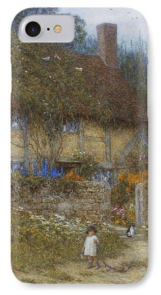 A Cottage Near Godalming Surrey Phone Case by Helen Allingham