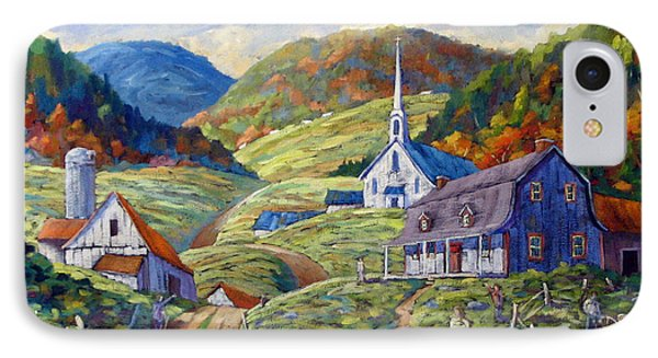 A Day In Our Valley Phone Case by Richard T Pranke