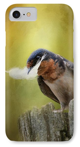 A Feather For Her Nest IPhone Case by Jai Johnson