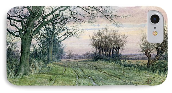 A Fenland Lane With Pollarded Willows IPhone Case by William Fraser Garden