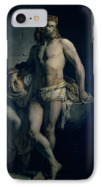 A Gaul And His Daughter Imprisoned In Rome IPhone Case by Felix-Joseph Barrias