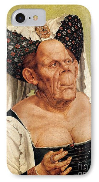 A Grotesque Old Woman IPhone Case by Quentin Massys