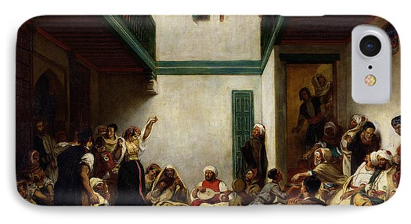 A Jewish Wedding In Morocco IPhone Case by Ferdinand Victor Eugene Delacroix