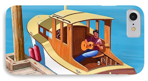 A Man, A Dog And An Old Boat IPhone Case by Gary Giacomelli