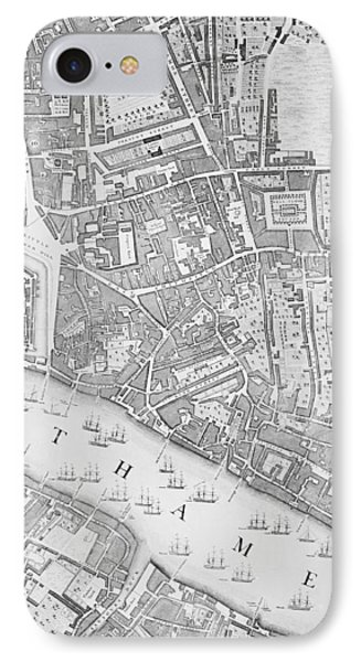 A Map Of The Tower Of London IPhone Case by John Rocque