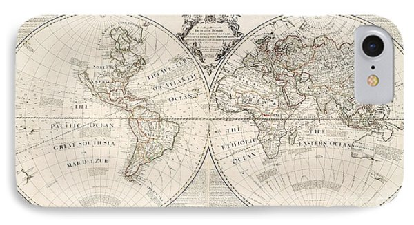 A Map Of The World IPhone Case by John Senex