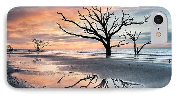 A Moment Of Reflection - Charleston's Botany Bay Boneyard Beach IPhone Case by Mark VanDyke
